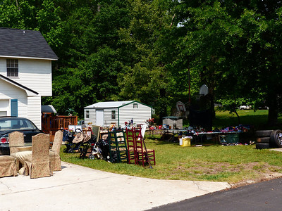 A yard sale.  We bought some stuff there.