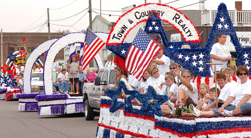 colorful floats wind their way through Kingsport during the Fun Fest Parade. Photo by Ned Jilton II