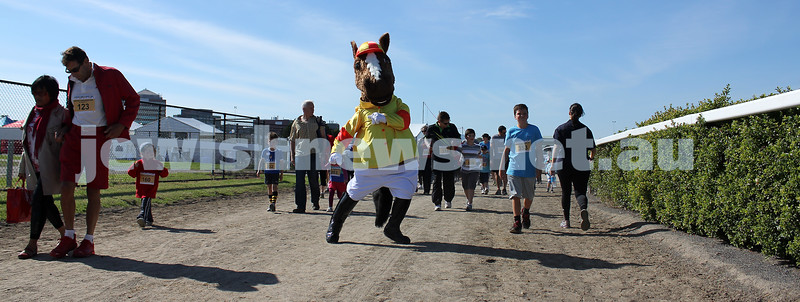 21-4-2013. Fun Run and Community Day in the centre park of the Caulfield Racecourse. Photo: Lochlan Tangas