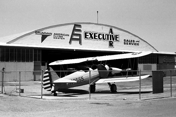 EXECUTIVE AIRCRAFT?<br /> Oxnard Airport, Oxnard California<br /> <br /> Although this could in fact be considered a viable photo of a Stearman PT-17 Kaydet, I mostly took it as a joke, since I found it sitting in front of the hangar for Executive Air, as if it might indeed be an executive aircraft. (I guess you had to be there.) It just so happens that this is actually one of their aircraft they used for training. How funny is that?