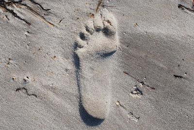 footprints...