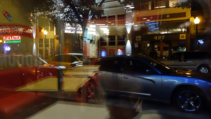 Reflections of Granby St from Domino's