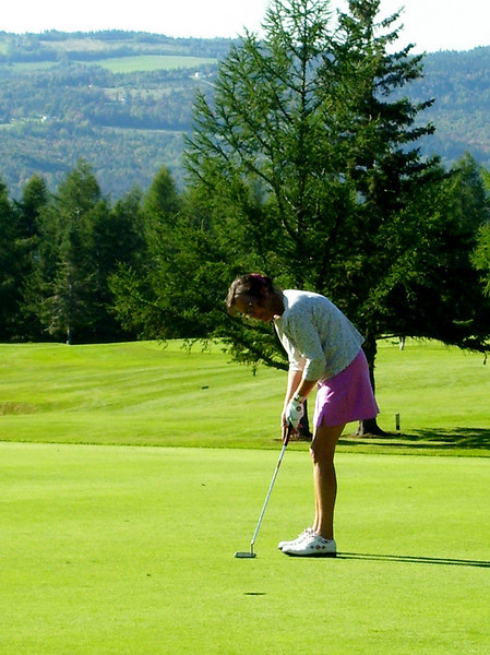 Golfing at the Balsam's Panorama Course.