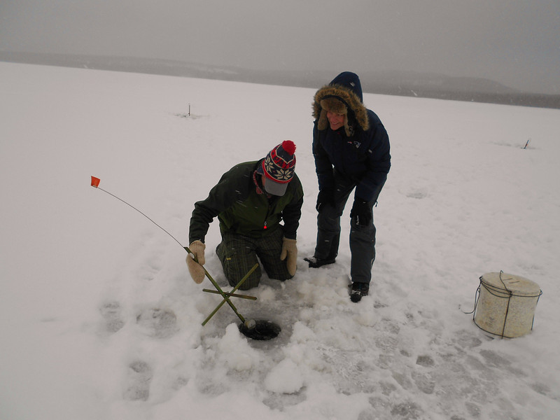 Ice Fishing on Second Connecticut Lake