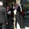 12 - Cardinal O`Malley receives mourners after the funeral mass