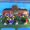 Casket at Carson Cemetery for Tony Johnson Jr.