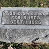 Paul E. Sweitzer is buried next to his parents (My Grandparents)  Henry Z. Sweitzer and Martha M. Keeny Sweitzer.  He died young due to injuries from an industrial canning factory accident in New Freedom, Pa.  He was the second child of five children in my father's family.