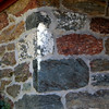 Stone masonary details demonstrate color, texture and variety of shapes and sizes.