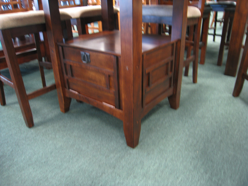 Kitchen table we're considering getting. This is at Dallas Dinettes off I-35. There is storage underneath.