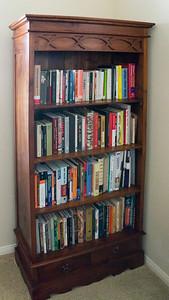 Teak Bookcase (two) W x D x H: 36' x 15' x 70'