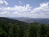 This is the view of the continental divide from the top of Flagstaff Mountain.