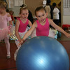 Hannah Thompson and Anna Cattles have a ball before their performance at the GAC dance recital.<br /> <br /> Photo by Chris Rourke