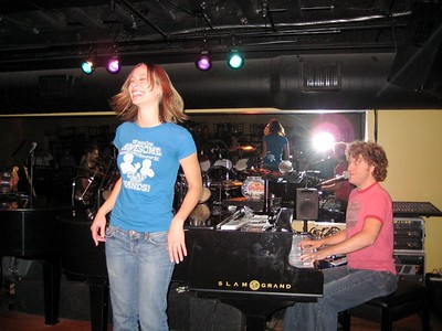 Geoff Smith and Cali  During the live performance of Digg the Code at The Big Bang in Nashville