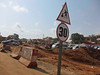 The outskirts of Accra are undergoing major highway uogrades- the traffic is beyond belief- drivers get out of their cars to direct traffic. In spite of the 88-92 degree heat and high humidity (no AC in cabs), everyone is is amazingly relaxed-