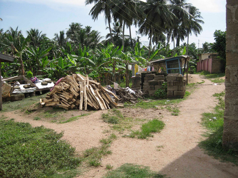 the path to the well to fetch water for cooking, bathing and flushing
