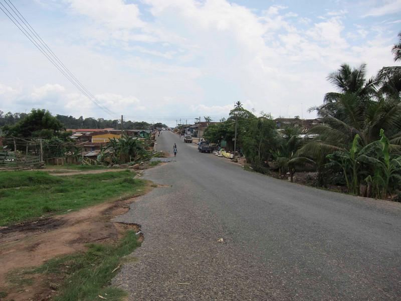 finally the main road