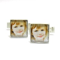 Gift_K_05, $68.00<br /> Choose one photo or a two. Photo size approx: 1/2 inch x 1/2 inch.  Your photo is reproduced and sealed making the photos waterproof, fadeproof & scratch resistant.