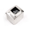 "Gifts_T_02, $120<br /> Sterling silver keepsake box; photo size is approx. 3/8"" x 3/8"".  A wonderful new baby gift, perfect for a first tooth or lock of hair.  Also makes a great keepsake gift for any holiday!"