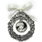 "Gift_K_04, $38.00 Photo measures 1"" round.  Pewter.  Your photo is reproduced and sealed for protection."