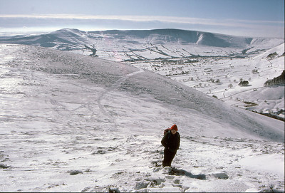 Above the Edale Valley in Derbyshire