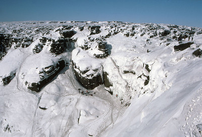 Kinder Downfall in winter