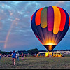Rainbow during the Great Chesapeake Balloon Festival  Glow  <br /> Easton, Maryland  2014