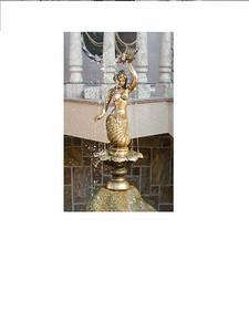 """Mermaid"" fountain. Bronze 76cm.  For Hotel ""Fort Eureka""  Krasnaya Polyana, Sochi  Russia 2009."
