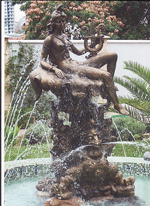 "Nymph"" Fountain. Bronze  2.4m  x 1.2m x 1.1m. Private residence Russia, city of Sochi, 2008."