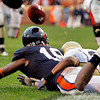 University of Virginia's Kris Burd (18) can't come up with the ball as he was defended by Georgia Tech's Rashaad Reid (28) during a pass attempt in the endzone during 4th quarter of play at Scott Stadium in Charlottesville VA Sat. Oct. 24, 2009.