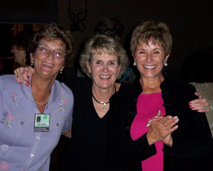 From left: Carla Stoppel, Lynn Slaten and Sue Van Buren