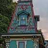 Mansard Roof on Tall Frontal Tower of Gainesville's Baird House