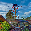 Jar Tree Over Automobile Planter