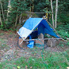 Well tent with pump