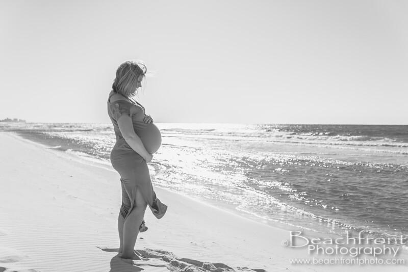 Maternity Photography taken on the beach in Destin, FL.