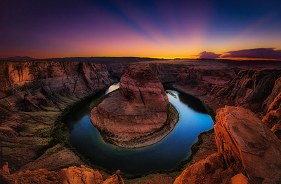Blue Hour In Horseshoe Bend