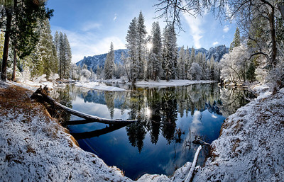 Winter Sunrise On The Merced River