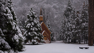 Christmas At Yosemite Chapel
