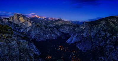 Waiting For Moonrise At Yosemite Point