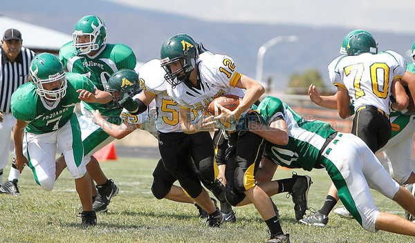 Los Alamos at Pojaoque Valley on Saturday, August 27, 2011. End of the third quarter Pojoaque was up 52-22. Photos by Jane Phillips/The New Mexican