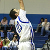 St. Michael's Horsemen Josh Roybal, #23, goes up for a layup  during the second quarter of their game against Lovington at  Perez-Shelley Gymnasium on Saturday, January 14, 2012.  <br /> <br /> Photos by Jane Phillips/The New Mexican