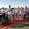 "Hundreds of people showed up to walk for  ""An Overnight Celebration of Life"" sponsored by the Relay for Life, American Cancer Society, event on Friday June 11th and 12th at Capital High School football field.  They honored the SURVIVORS with a reception first and then they walked the first lap. The event was an overnight event where team members walk through the night in honor of Survivors and in Memory of those who have lost the battle. <br /> Photos by Jane Phillips/The New Mexican"