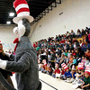 Read Across America ,which promotes literacy,visits Aspen Community School Wednesday March 2, 2011. Celebrity readers and volunteers read to students before they had an assembly in the gymnasium. <br /> Photos by Jane Philips/The New Mexican