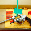 A revolver at Santa Fe Police department evidence room on Sep. 1, 2010. The evidence is from burgleries as far back as March.             Luis Sanchez Saturno/ The New Mexican.
