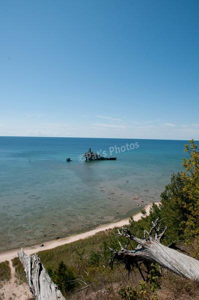 Sleeping Bear Dunes, Michigan. Shipwreck