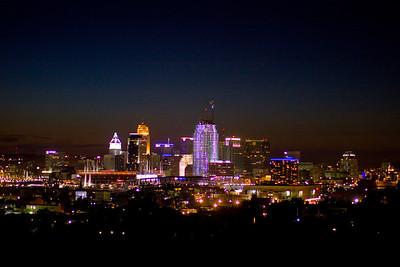 Riverfest Fireworks over Cincinnati