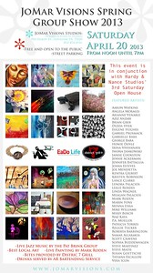 Come by and enjoy great art at JoMar Visions Spring Group Show!  I will have some great new pieces!