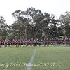 ANZAC Day 2015 at Binalong. Four teams pay reverence to the fallen.