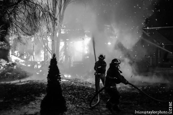 Garage Fire, Bezanson Dr. Berrwick  N.S. Nov.27, 2012