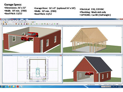 Johns Garage Journal 26 x 32 Brick Garage w Car Lift The – 26 X 26 Garage Plans