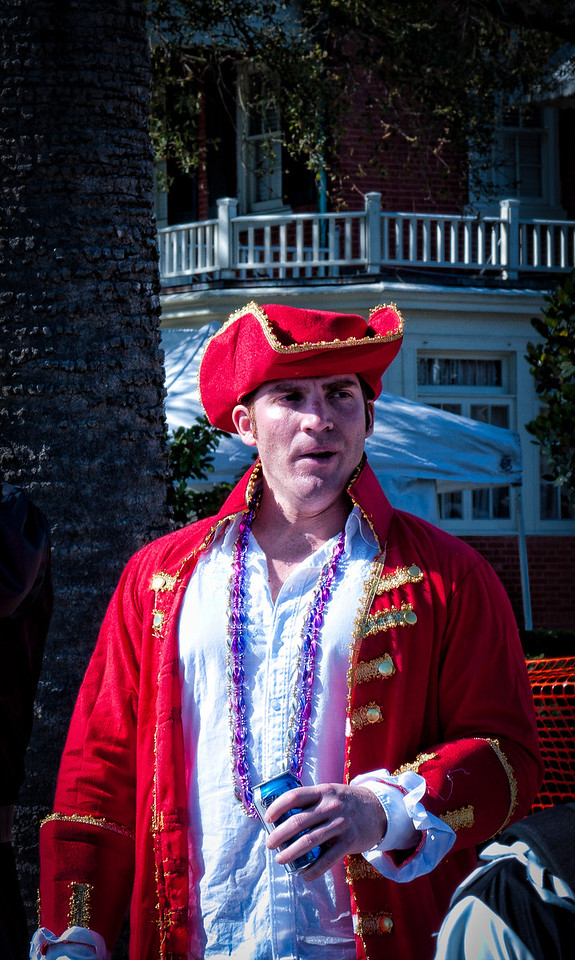Gasparilla 2011: The red pirate.